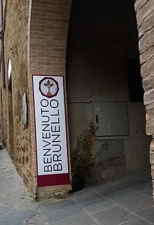 ingresso a Benvenuto Brunello