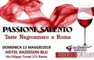 Il Negroamaro nel calice, protagonista il 13 Maggio a Roma per Passione Salento