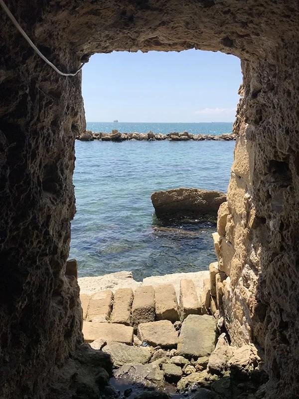 Uscita  mare dall'ipogeo di Palazzo Baffi