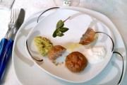 Polpettine di carne in salse tsatziki e guacamole, Friuli Colli Orientali Sauvignon