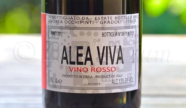 Alea Viva Rosso 2017 Andrea Occhipinti