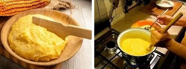 polenta per Guanciole di Vitella brasata all'Amarone