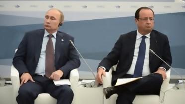F Hollande et V Poutine, une cohabitation difficile ?