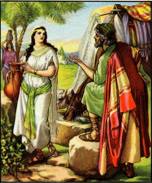 Abraham's Servant Finds Rebekah - Genesis 24:15-18