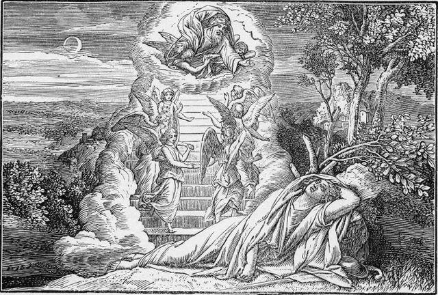 Jacob's vision of angels Genesis 28:12-13
