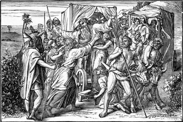 Joseph meets his father Genesis 46:29-30