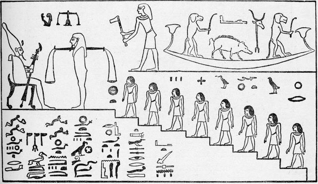 Egyptian Judgment Scene
