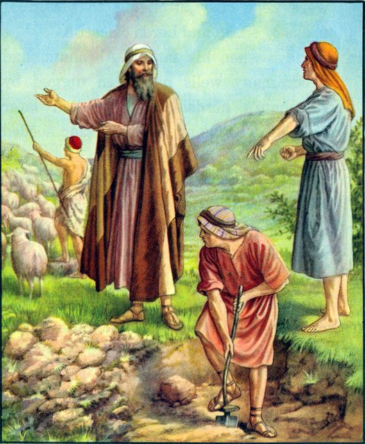 Disputes over wells dug by Isaac Genesis 26:19-25