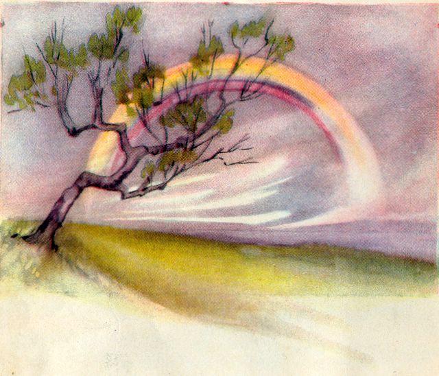 Rainbow on a Cloudy Day Ezekiel 1:28