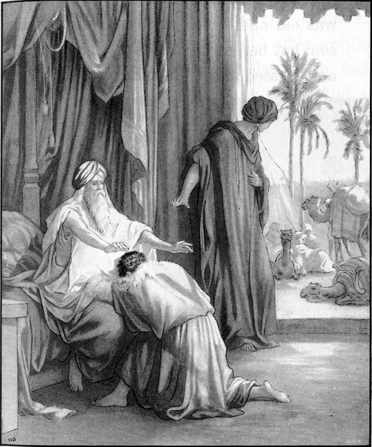 Rebekah and Jacob deceive Isaac into giving the blessing to Jacob Genesis 27:1-29