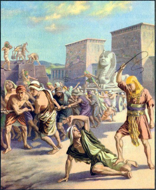 Egyptian taskmasters afflict the Israelites Exodus 1:11-12