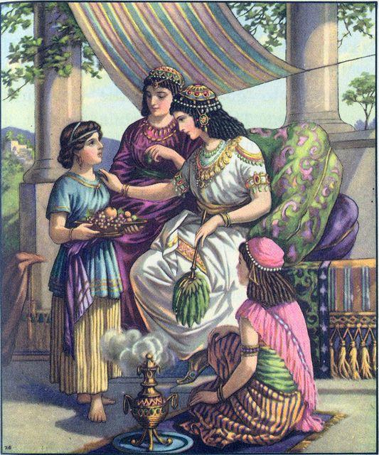 Israel servant tells Naaman's wife about the prophet in Israel II Kings 5:2-3