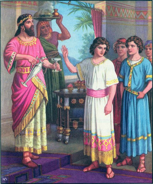 Daniel refuses to eat the king's delicacies Daniel 1:8