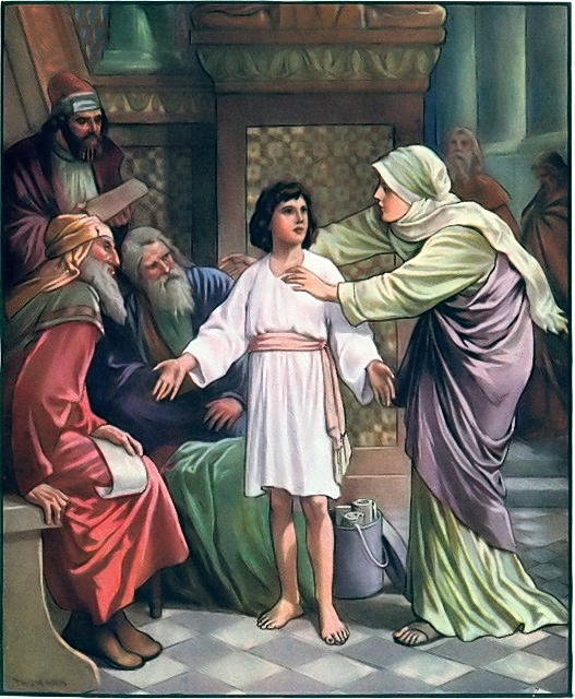 Jesus in the temple discussing his Father's business Luke 2:46-49
