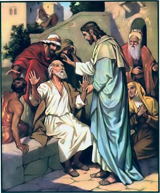 Jesus heals blind Bartimaeus Mark 10:46-52