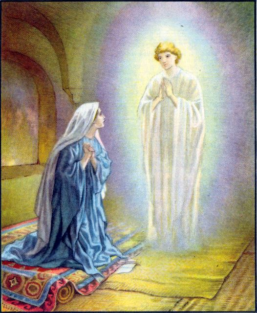 Mary is visted by the angel Gabriel Luke 1:26-38