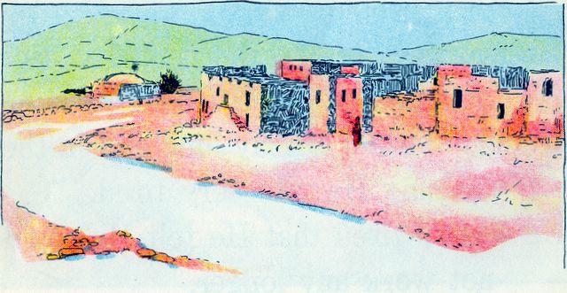 Scene of a Jewish village Mark 2:1