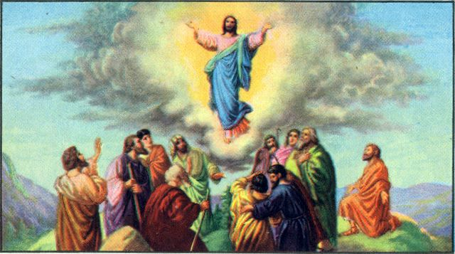 Jesus assends into heaven Acts 1:9