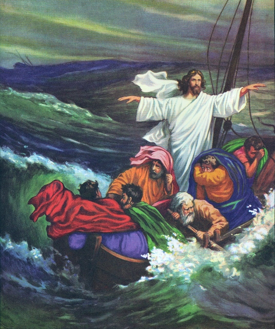 Jesus commands the sea to be calm Mark 4:39
