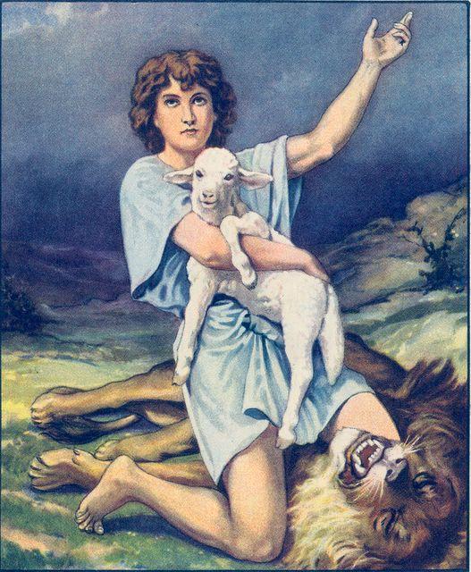 Young David Kills a Lion to Save a Lamb I Samuel 17:34-35