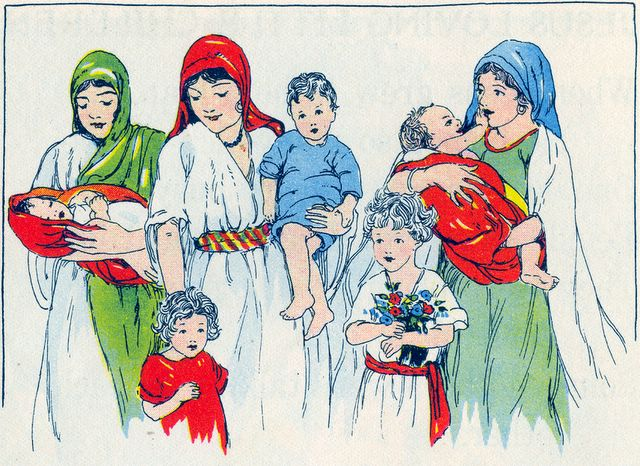 Mothers Bringing Their Children to See Jesus Mark 10:13-14