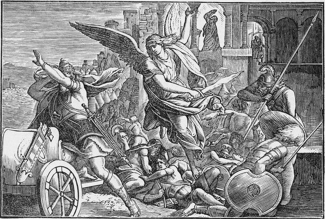 Angel slaying the Assyrians II Kings 19:35
