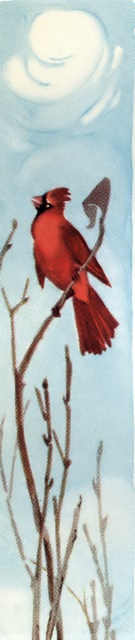Cardinal singing in the winter
