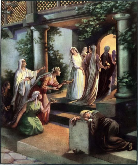 The five wise and five foolish virgins Matthew 25:1-9