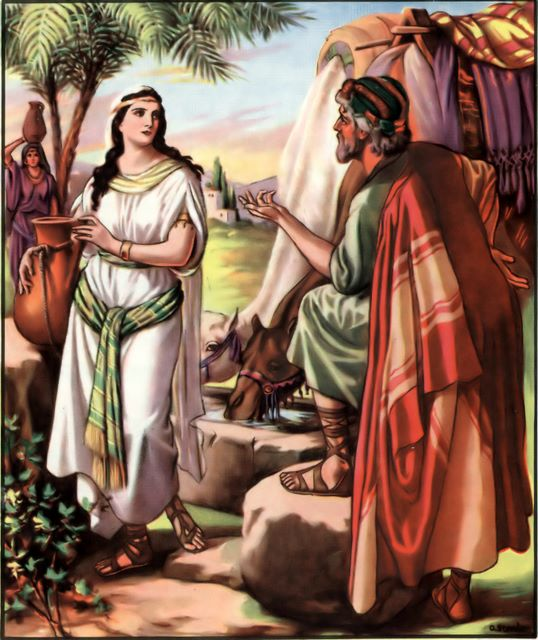 Abraham's servant finds Rebekah Genesis 24:16-17