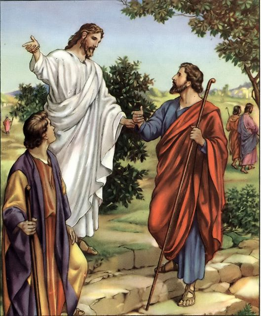 Jesus on the road to Emmaus Luke 24:28