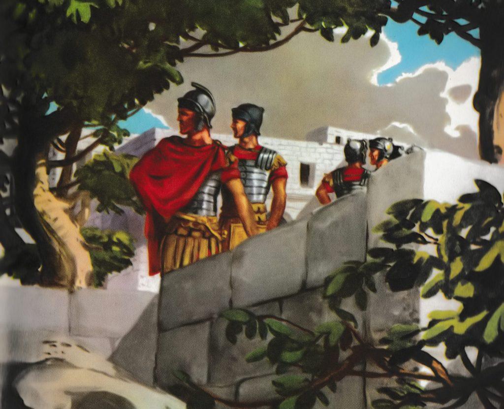 The centurion sent men (Luke 7:6)