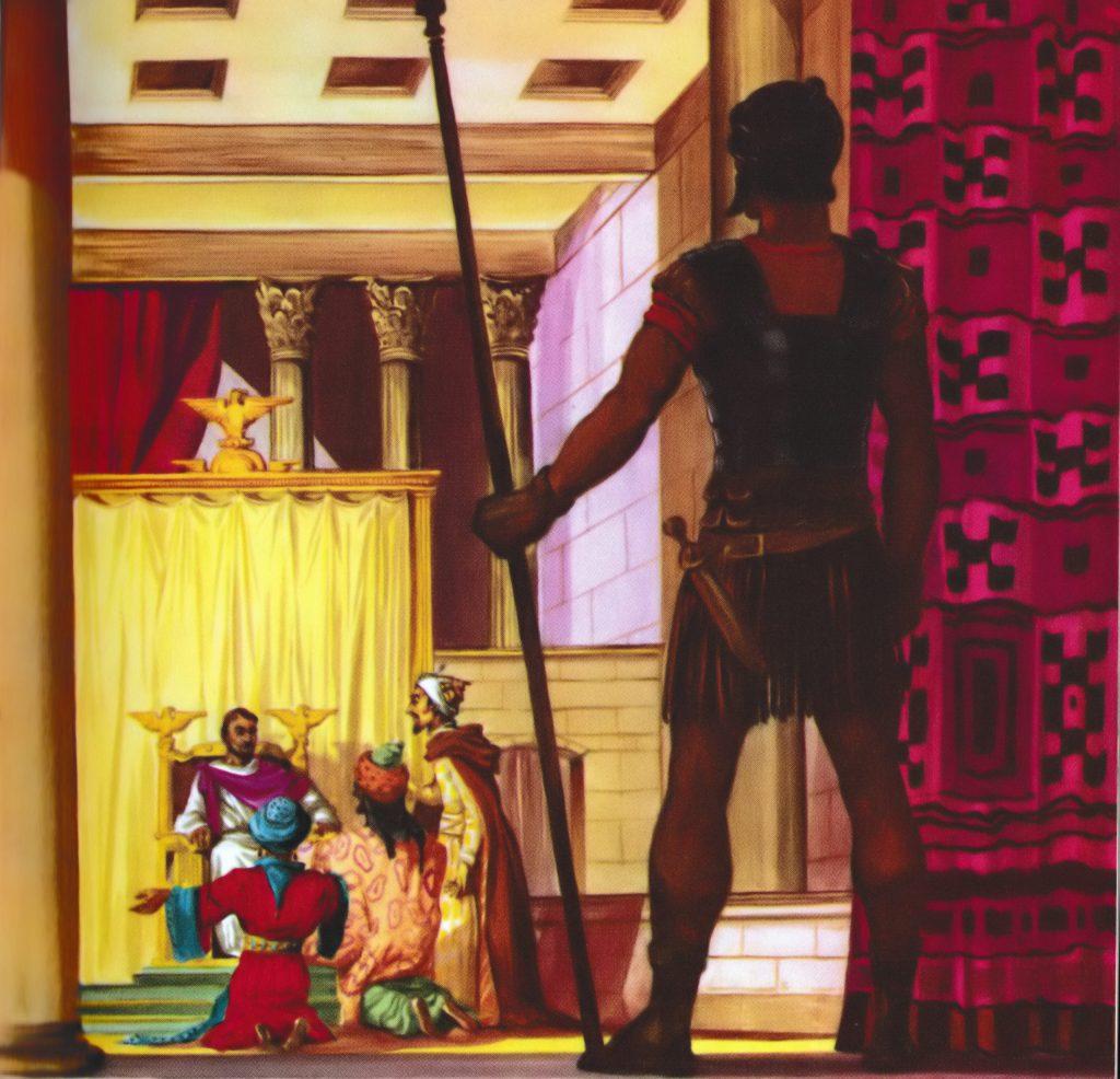 The magi talk with King Herod (Matthew 2:1-2)