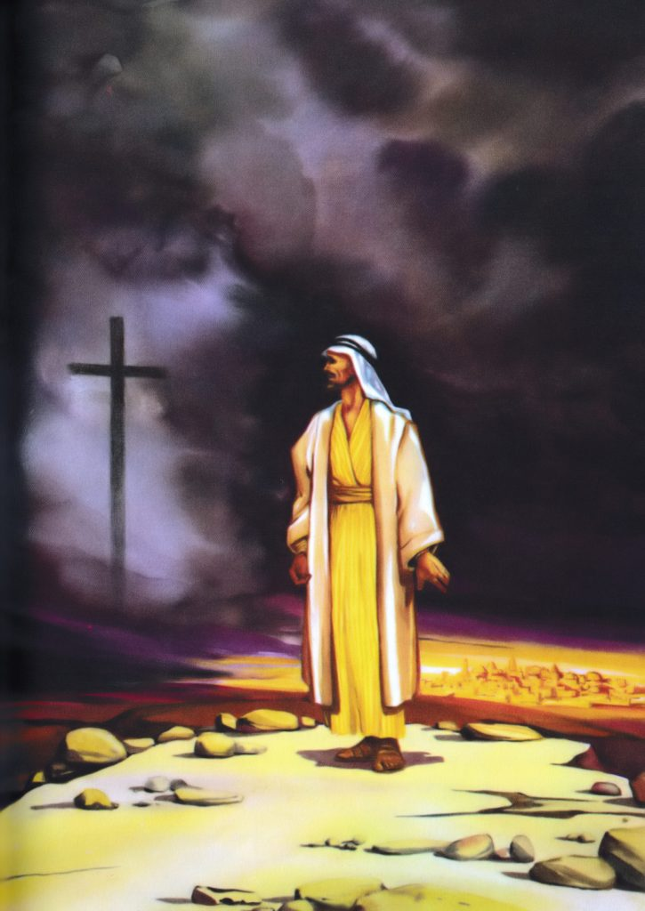 Jesus led out into the wilderness (Matthew 4:1)