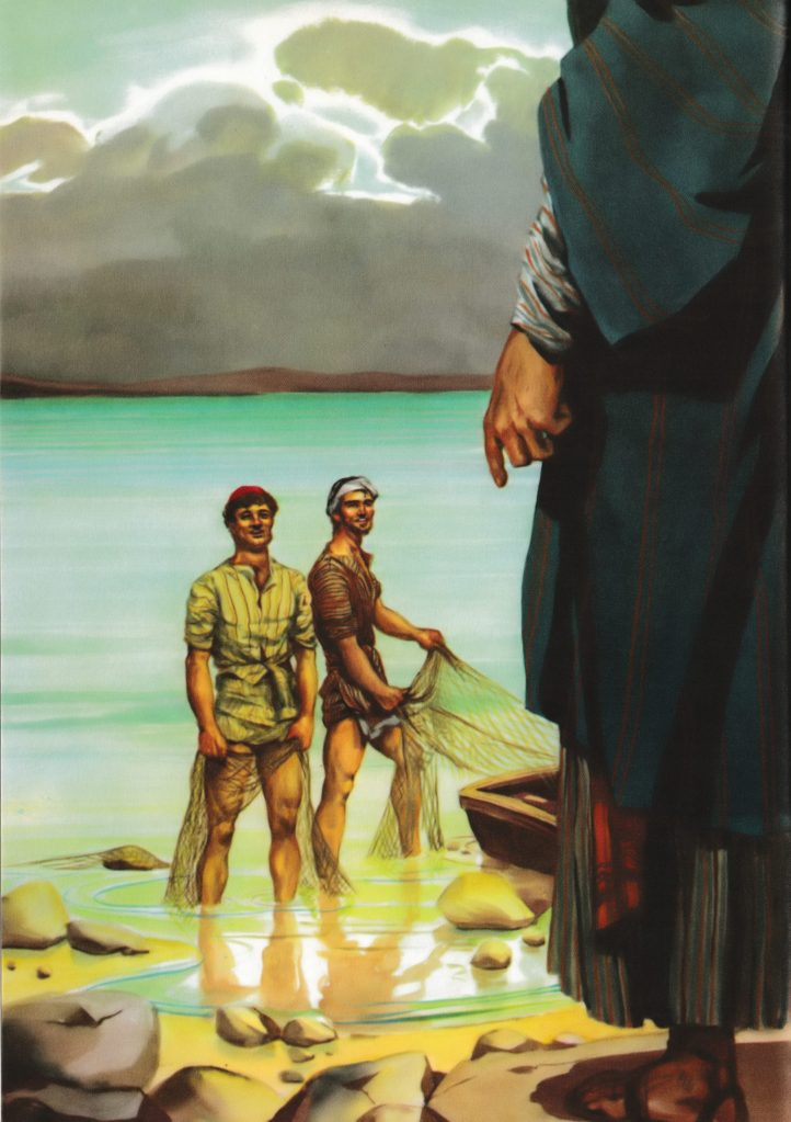The calling of Peter and Andrews (Matthew 4:18-19)