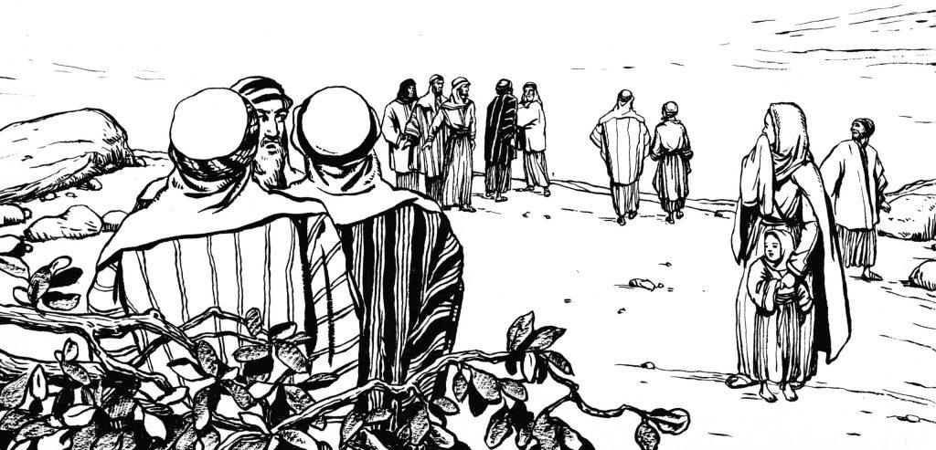 The people of Gerasenes ask Jesus to leave (Luke 8:37)