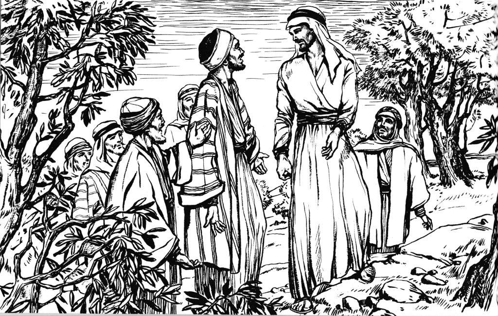 Jesus prays in the garden (Matthew 26:36)