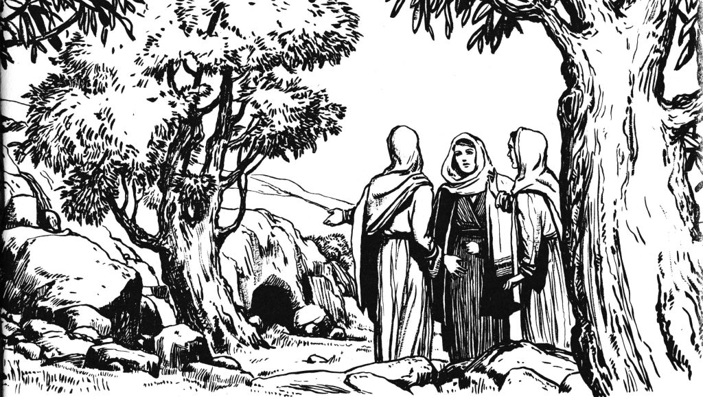 Women come to the tomb (Mark 16:1-4)