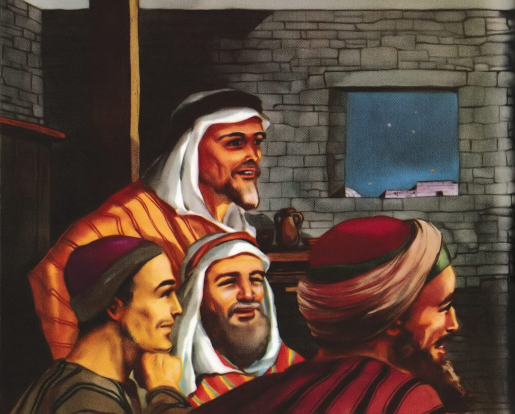 Disciples gather in an upper room (John 20:19)