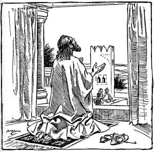 Daniel prayed at his window as was his custom (Daniel 6:10)
