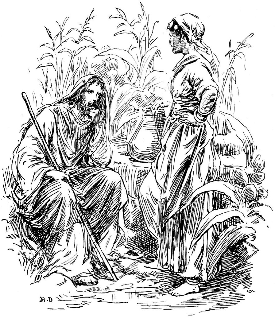 Jesus speaks with the Samaritan woman at a well - John 4:5-7