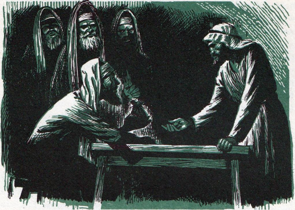 Judas Is Offered Thirty Pieces of Silver to Betray Jesus (Matthew 26:15)