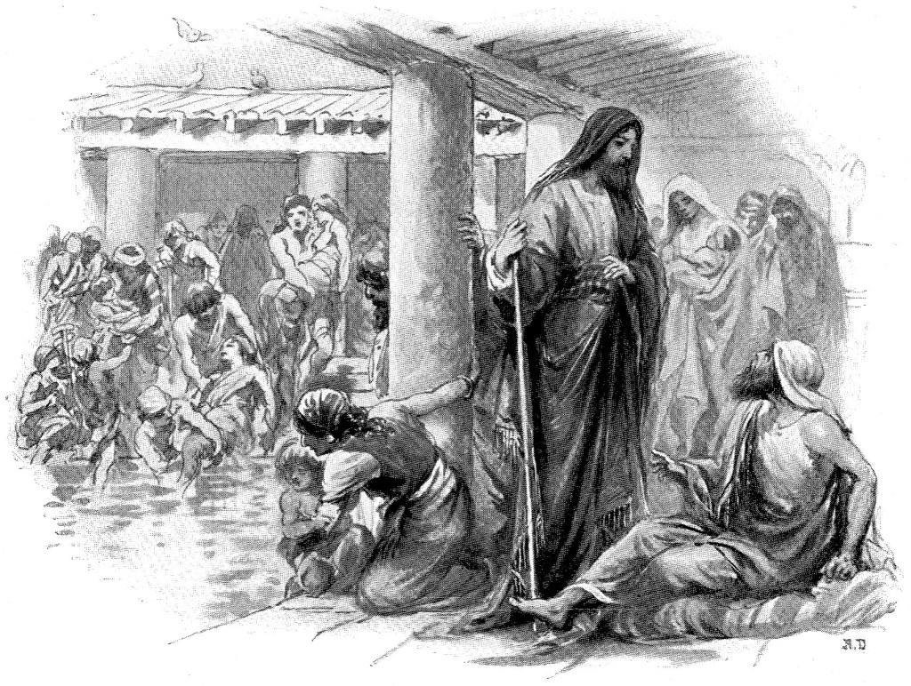 Healing the lame man by the Pool of Bethesda - John 5:2-8