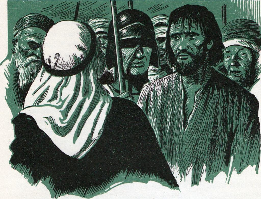 Jesus mocked (Matthew 27:31)