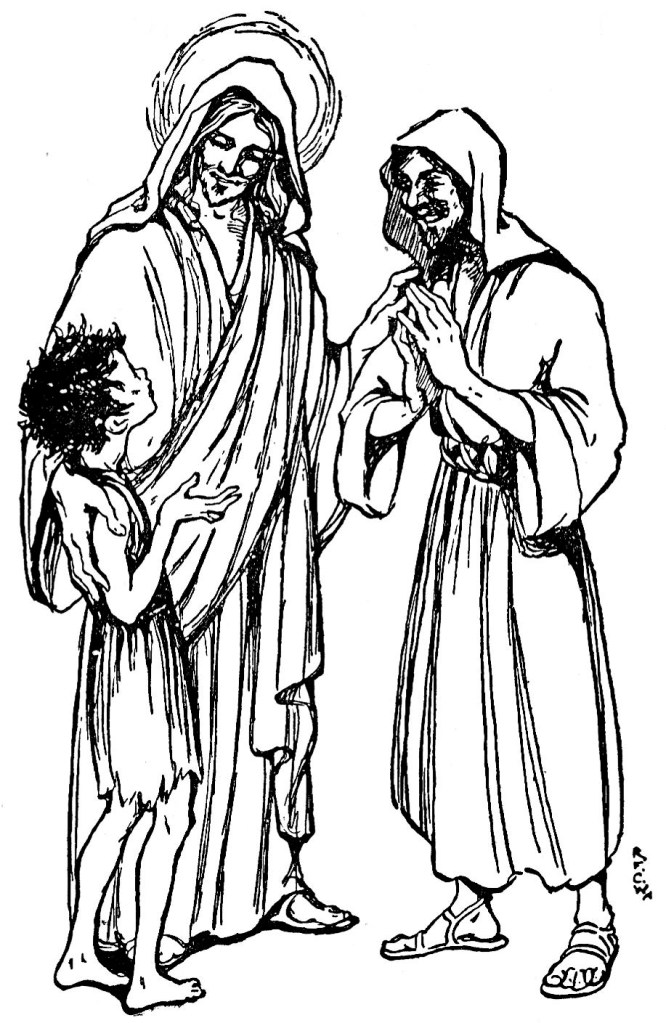 Jesus casts out a demon from a boy (Matthew 17:18)