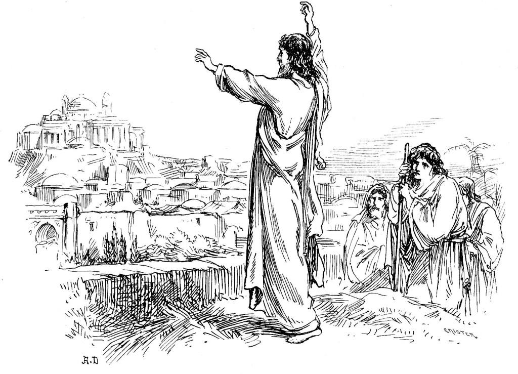Jesus weeps over Jerusalem - Matthew 23:37-39