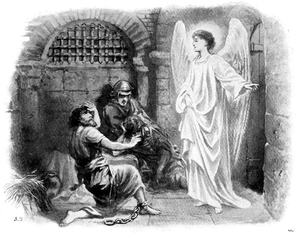 An angel frees Peter from prison - Acts 12:6-7