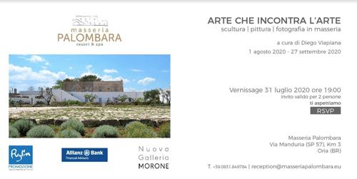 L'Arte che incontra l'Arte a Masseria Palombara - la voce a Sud