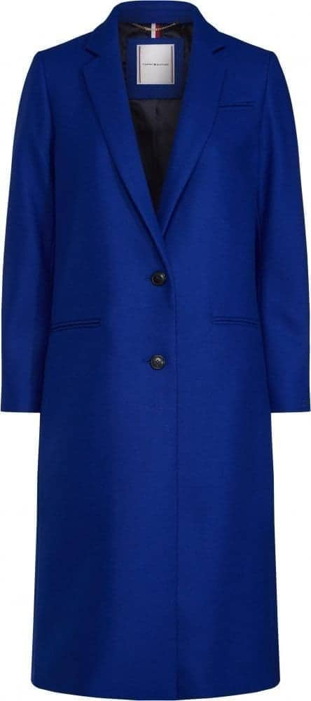 TOMMY HILFIGER CAPPOTTO DONNA LUNGO AUTUNNO 2019_BLUE CLASSIC LONG COAT