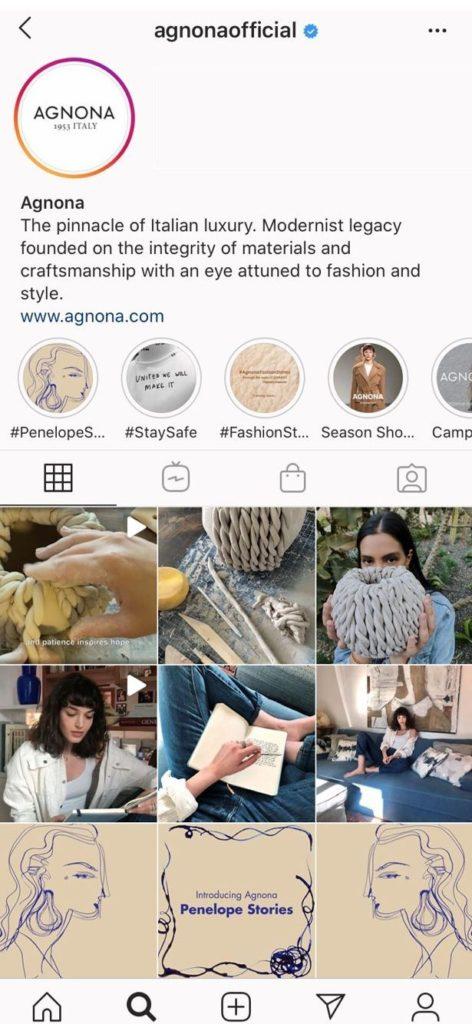 AGNONA - Penelope Stories Instagram