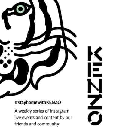 Stay Home with KENZO eventi sull'account Instagram @kenzo